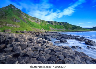 Giant's Causeway, the nature hexagon stones in Northern Ireland.