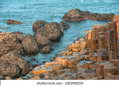 Giant's Causeway or Giant's Road is a natural rocky outcrop located on the north east coast of Ireland