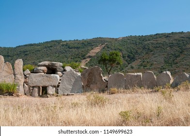 Giants' grave (Sardinian megalithic gallery grave).