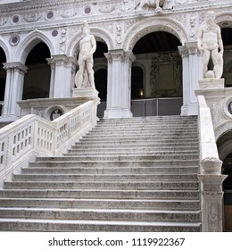 Giant's Stairway of the Doge's Palace, Venice, Italy