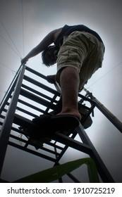 gianyar bali - 6 February 2021 - to climb the iron tower
