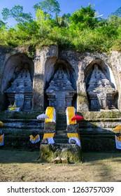 Gianyar, Bali / Indonesia - August 31, 2012 : Gunung Kawi temple during hindu's ceremony.