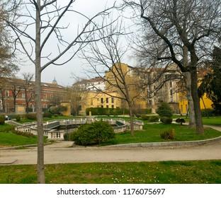 Giardini della Guastalla, a small public park in Milan, Italy - Shutterstock ID 1176075697