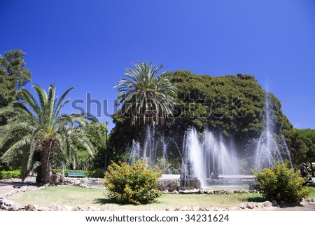 Giardino inglese english garden palermo stock photo edit now