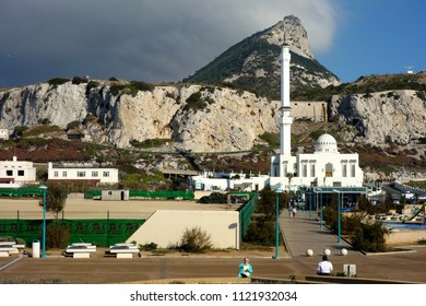 Gibraltar 22nd of february 2018. The Mosque at Europa Point on the Rock of Gibraltar is the first or the last Mosque in Europe.The Ibrahim-al-Ibrahim Mosque