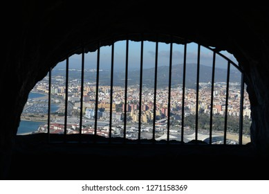 Gibraltar, Europe – December 22, 2018: Casmates, Tunnels, Gibraltar, British Overseas Territory, Europe