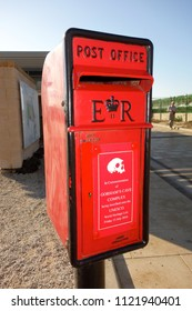 GIBRALTAR - MARCH 15: Gibraltar is a British Overseas Territory and headland, on Spain's south coast, where traditional British post boxes are still used, in Gibraltar,