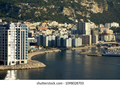 GIBRALTAR - MAY 9: Gibraltar is a British Overseas Territory on Spain's south coast. It is dominated by the Rock of Gibraltar, which overlooks a natural harbour, in Gibraltar, May 9, 2018.