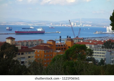 GIBRALTAR - MAY 9: Gibraltar is a British Overseas Territory on Spain's south coast. which boasts a natural harbour, in Gibraltar, May 9, 2018.