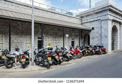 GIBRALTAR, UNITED KINGDOM - 08 JUNE, 2018. Street of Gibraltar.