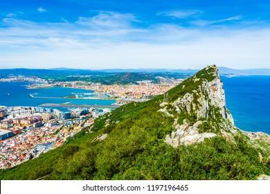 Gibraltar, United Kingdom: The tip of the rock of Gibraltar.