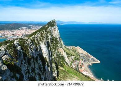 Gibraltar, United Kingdom: The tip of the rock of Gibraltar.
