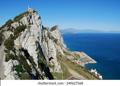 Gibraltar upper rock nature reserve top (East side)
