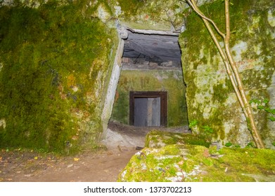 GIERLOZ, POLAND, 28 AUGUST 2018: The Wolf's Lair, the bunker where Hitler hid