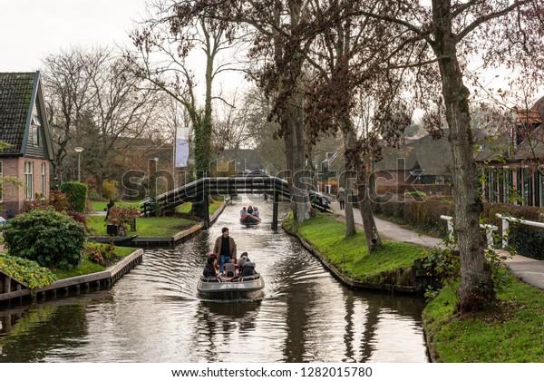 Giethoorn Netherlands November 24 2018 Green Stock Photo Edit Now