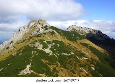 Giewont, landscape od Tatras Mountain, Poland