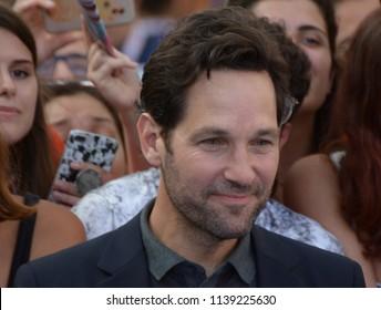 Giffoni Valle Piana, Sa, Italy - July 20, 2018 : Paul Rudd at Giffoni Film Festival 2018 - on July 20, 2018 in Giffoni Valle Piana, Italy