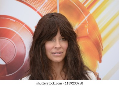 Giffoni Valle Piana, Sa, Italy - July 20, 2018 : Evangeline Lilly at Giffoni Film Festival 2018 - on July 20, 2018 in Giffoni Valle Piana, Italy