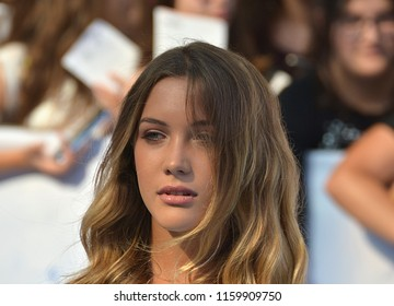Giffoni Valle Piana, Sa, Italy - July 27, 2018 : Ludovica Coscione at Giffoni Film Festival 2018 - on July 27, 2018 in Giffoni Valle Piana, Italy