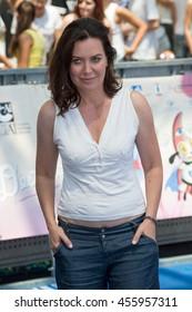 Giffoni Valle Piana, SA, ITALY - July 21, 2016: Actress Sabina Guzzanti attends at Giffoni Film Festival 2016 - on July 21, 2016 in Giffoni Valle Piana, Italy.