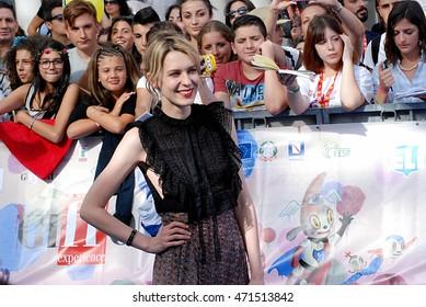 Giffoni Valle Piana, Sa, Italy - July 16, 2016: actress Elena Radonicich at Giffoni Film Festival 2016 - on July 16, 2016 in Giffoni Valle Piana, Italy