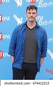 Giffoni Valle Piana, Sa, Italy - July 21, 2016: actor Sam Claflin at Giffoni Film Festival 2016 - on July 21, 2016 in Giffoni Valle Piana, Italy