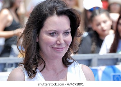 Giffoni Valle Piana, Sa, Italy - July 21, 2016: actress Sabina Guzzanti at Giffoni Film Festival 2016 - on July 21, 2016 in Giffoni Valle Piana, Italy