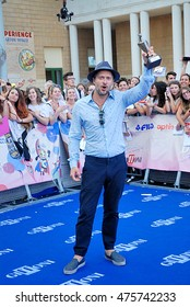 Giffoni Valle Piana, Sa, Italy - July 23, 2016:  actor Claudio Santamaria at Giffoni Film Festival 2016 - on July 23, 2016 in Giffoni Valle Piana, Italy