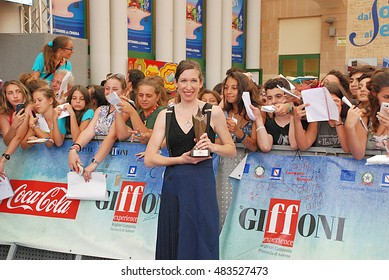Giffoni Valle Piana, Sa, Italy - July 22, 2015: Lauren Kate at Giffoni Film Festival 2015 - on July 22, 2015 in Giffoni Valle Piana, Italy