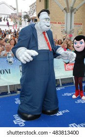 Giffoni Valle Piana, Sa, Italy ,July 23, 2015: Mavis, Dracula, Frankie and Mummia , cast of movie Hotel Transylvania 2, at Giffoni Film Festival 2015 - on July 23, 2015 in Giffoni Valle Piana, Italy