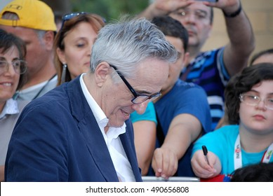 Giffoni Valle Piana, Sa, Italy - July 20, 2013 : Marco Bellocchio at Giffoni Film Festival 2013 - on July 20, 2013 in Giffoni Valle Piana, Italy