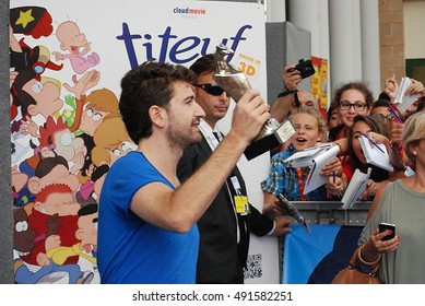 Giffoni Valle Piana, Sa, Italy - July 22, 2013 : Alessandro Siani at Giffoni Film Festival 2013 - on July 22, 2013 in Giffoni Valle Piana, Italy