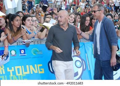 Giffoni Valle Piana, Sa, Italy - July 23, 2013 : Filippo Nigro at Giffoni Film Festival 2013 - on July 23, 2013 in Giffoni Valle Piana, Italy