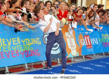 Giffoni Valle Piana, Sa, Italy - July 26, 2013 : Eddie Redmayne at Giffoni Film Festival 2013 - on July 26, 2013 in Giffoni Valle Piana, Italy