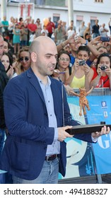 Giffoni Valle Piana, Sa, Italy - July 27, 2013 : Roberto Saviano at Giffoni Film Festival 2013 - on July 27, 2013 in Giffoni Valle Piana, Italy