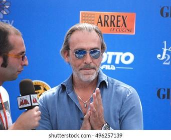 Giffoni Valle Piana, Sa, Italy - July 16, 2012 : Luca Ward at Giffoni Film Festival 2012 - on July 16, 2012 in Giffoni Valle Piana, Italy