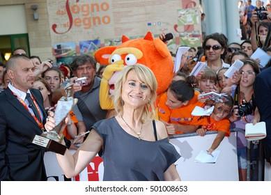 Giffoni Valle Piana, Sa, Italy - July 13, 2011 : Luciana Littizzetto at Giffoni Film Festival 2011 - on July 13, 2011 in Giffoni Valle Piana, Italy