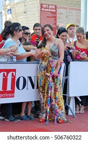 Giffoni Valle Piana, Sa, Italy - July 19, 2011 : Antonella Ferrari at Giffoni Film Festival 2011 - on July 19, 2011 in Giffoni Valle Piana, Italy