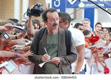 Giffoni Valle Piana, Sa, Italy - July 20, 2011 : Rocco Papaleo at Giffoni Film Festival 2011 - on July 20, 2011 in Giffoni Valle Piana, Italy