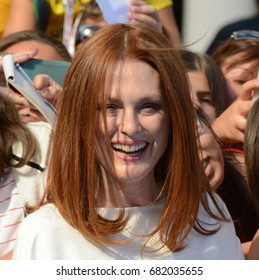Giffoni Valle Piana, Sa, Italy - July 16, 2017 : Julianne Moore at Giffoni Film Festival 2017 - on July 16, 2017 in Giffoni Valle Piana, Italy
