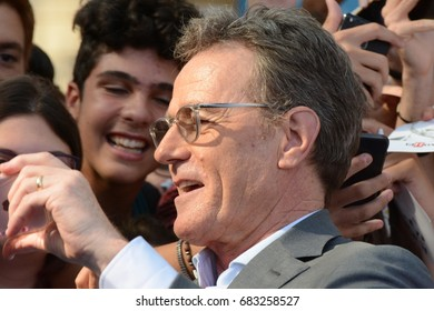 Giffoni Valle Piana, Sa, Italy - July 20, 2017 : Bryan Cranston at Giffoni Film Festival 2017 - on July 20, 2017 in Giffoni Valle Piana, Italy