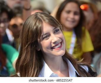 Giffoni Valle Piana, Sa, Italy - July 16, 2017 : Clara Alonso at Giffoni Film Festival 2017 - on July 16, 2017 in Giffoni Valle Piana, Italy