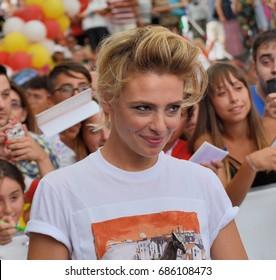 Giffoni Valle Piana, Sa, Italy - July 14, 2017 : Jasmine Trinca at Giffoni Film Festival 2017 - on July 14, 2017 in Giffoni Valle Piana, Italy