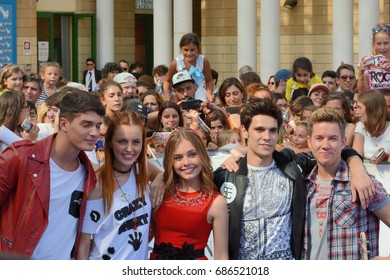 Giffoni Valle Piana, Sa, Italy - July 15, 2017 : Cast Tv Series Maggie & Bianca at Giffoni Film Festival 2017 - on July 15, 2017 in Giffoni Valle Piana, Italy