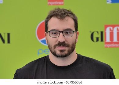Giffoni Valle Piana, Sa, Italy - July 15, 2017 : Mauro Uzzeo at Giffoni Film Festival 2017 - on July 15, 2017 in Giffoni Valle Piana, Italy