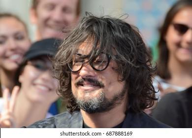 Giffoni Valle Piana, Sa, Italy - July 16, 2017 : Alessandro Borghese at Giffoni Film Festival 2017 - on July 16, 2017 in Giffoni Valle Piana, Italy