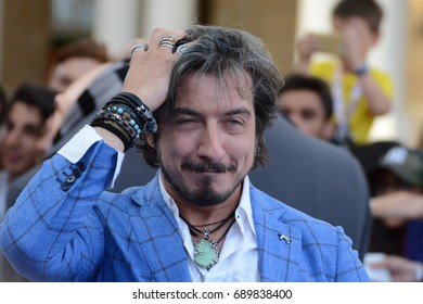 Giffoni Valle Piana, Sa, Italy - July 17, 2017 : Paolo Ruffini at Giffoni Film Festival 2017 - on July 17, 2017 in Giffoni Valle Piana, Italy