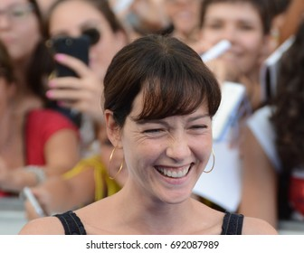 Giffoni Valle Piana, Sa, Italy - July 19, 2017 : Cristiana Capotondi at Giffoni Film Festival 2017 - on July 19, 2017 in Giffoni Valle Piana, Italy