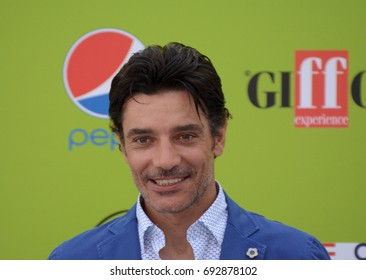 Giffoni Valle Piana, Sa, Italy - July 19, 2017 : Giuseppe Zeno at Giffoni Film Festival 2017 - on July 19, 2017 in Giffoni Valle Piana, Italy