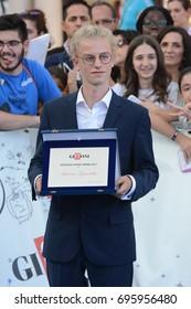 Giffoni Valle Piana, Sa, Italy - July 21, 2017 : Ludovico Girardello at Giffoni Film Festival 2017 - on July 21, 2017 in Giffoni Valle Piana, Italy
